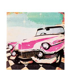 50s Classic Rock n Roll Lunch Napkins - 33cm Paper