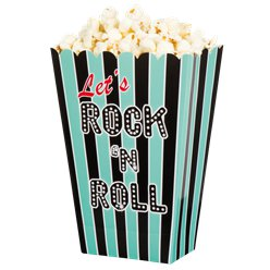 50s Classic Rock n Roll Popcorn Boxes
