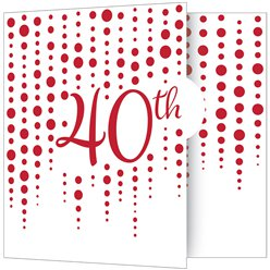 40th Ruby Sparkle & Shine Wedding Anniversary Party Invites