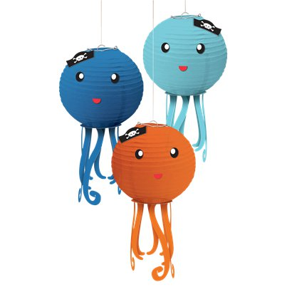 Ahoy Birthday Octopus Lanterns - 24cm