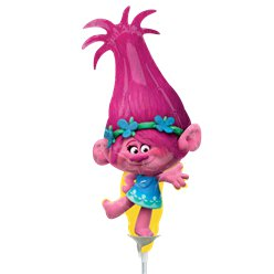"Trolls Poppy Airfilled Balloon - 9"" Foil Mini"