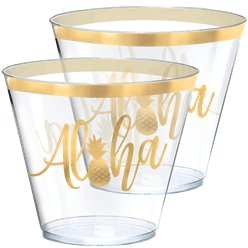Aloha Summer Plastic Tumbler Glasses - 266ml