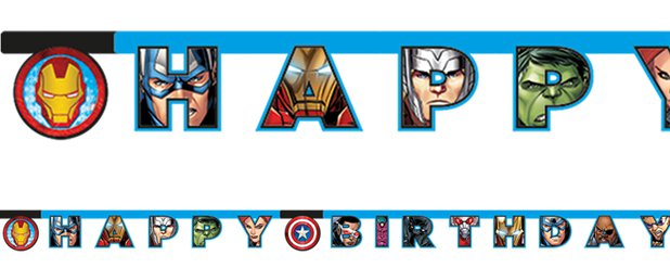 Mighty Avengers 'Happy Birthday' Flag Banner