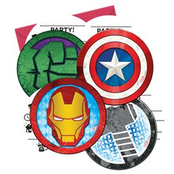 Mighty Avengers Party Invitations