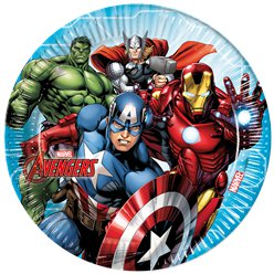Mighty Avengers Paper Plates - 23cm