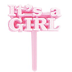 It's a Girl Plastic Picks