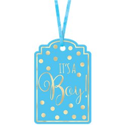 It's A Boy Blue Baby Shower Gift Tags