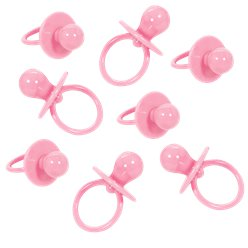 Baby Shower Large Pink Dummy Charms