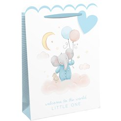 Welcome To The World Blue Gift Bag - Large