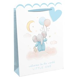 Welcome To The World Blue Gift Bag - Extra Large