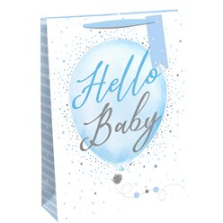 Hello Baby Blue Gift Bag - Large