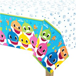 Baby Shark Paper Tablecover - 1.37m x 2.6m