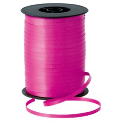 Hot Pink Curling Balloon Ribbon - 500m