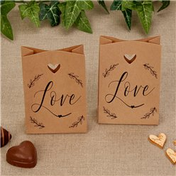 Hearts & Krafts Mini Wedding Favour Bags - 10.5cm