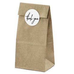 Kraft Thank You Treat Bags