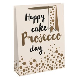 Happy Cake & Prosecco Day Large Gift Bag