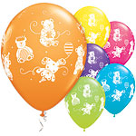 "Cute & Cuddly Bears Assorted Balloons - 11"" Latex"