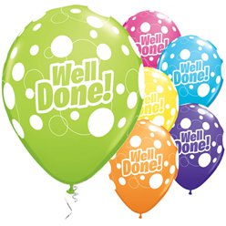 "Well Done! Dots Balloons - 11"" latex"