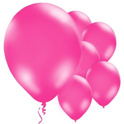"Hot Pink Balloons - 11"" Latex"