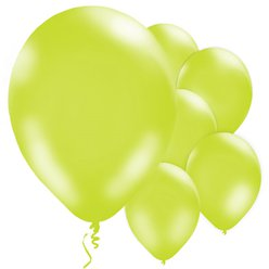 "Lime Green Metallic Balloons - 11"" Latex"