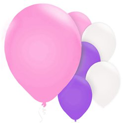 "Girls Mix Balloons - 11"" Pearl Latex"
