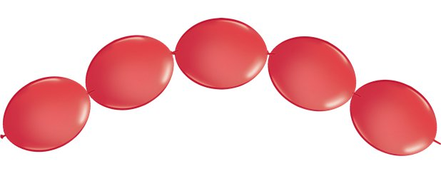 "Red Quicklink Balloons - 6"" Latex"