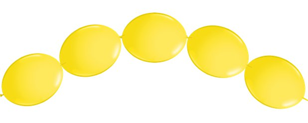 "Yellow Quicklink Balloons - 6"" Latex"