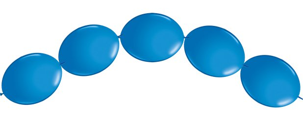"Blue Quicklink Balloons - 6"" Latex"