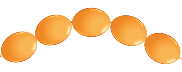 "Orange Quicklink Balloons - 6"" Latex"