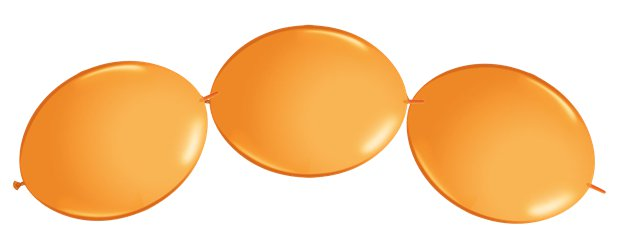 "Orange Quicklink Balloons - 12"" Latex"