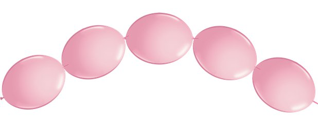 "Pink Quicklink Balloons - 6"" Latex"