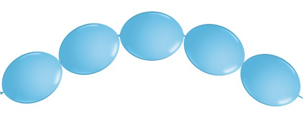 "Pale Blue Quicklink Balloons - 6"" Latex"