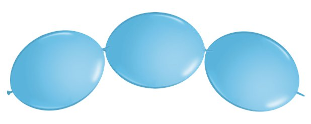 "Pale Blue Quicklink Balloons - 12"" Latex"