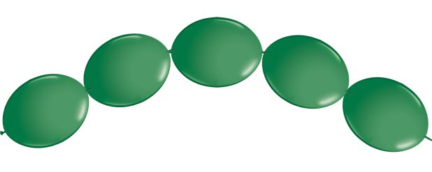 "Green Quicklink Balloons - 6"" Latex"