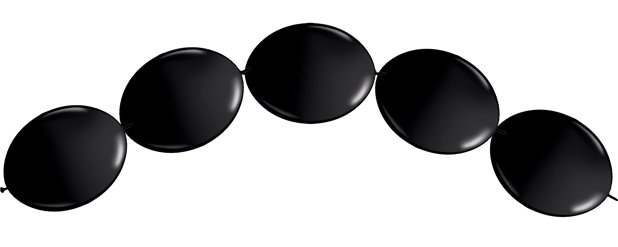 "Onyx Black Quicklink Balloons - 6"" Latex"