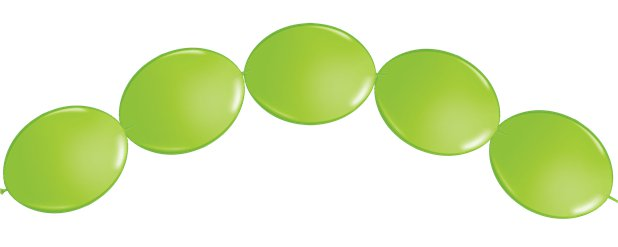 "Lime Green Quicklink Balloons - 6"" Latex"