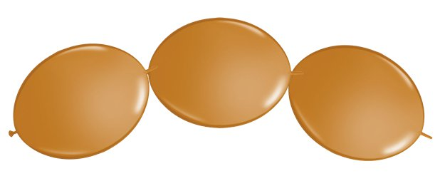 "Mocha Brown Quicklink Balloons - 12"" Latex"