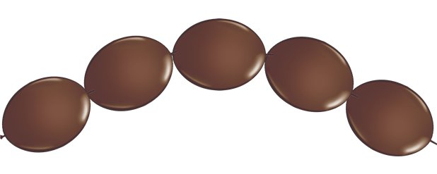 "Chocolate Brown Quicklink Balloons - 6"" Latex"