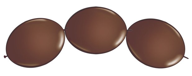 "Chocolate Brown Quicklink Balloons - 12"" Latex"