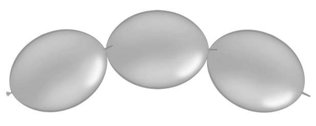 "Silver Quicklink Balloons - 12"" Latex"