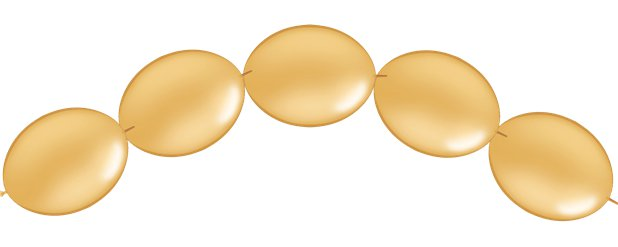 "Gold Quicklink Balloons - 6"" Latex"
