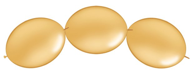 "Gold Quicklink Balloons - 12"" Latex"