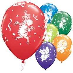 "Party Animals Balloons - 11"" Latex"