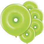 "GEO Donut Lime Green Balloons - 16"" Latex"