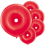 "GEO Donut Red Balloons - 16"" Latex"