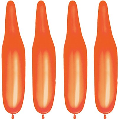 Plain Orange Modelling Balloons - 321Q Latex