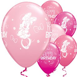 "Minnie Mouse Balloons - 11"" Latex"