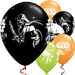 "Star Wars Balloons - 12"" Latex - 6 pack"