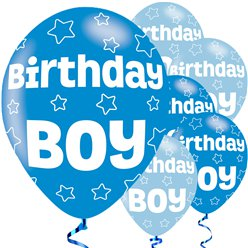 "Birthday Boy Balloons - 11"" Latex"
