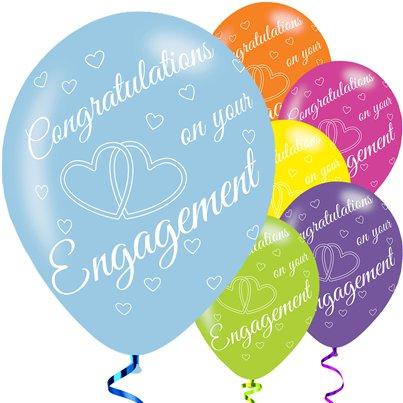 "Engagement Balloons - 11"" Latex"